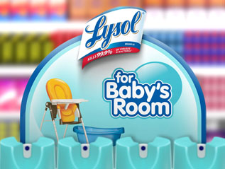 Lysol For Baby's Room In-Store Shelf